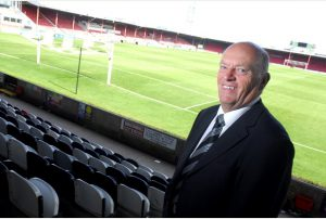 Picture by Rick Byrne - 31st August 2010 - story by Paul Smith - Terry Rudrum who is retiring from his role as safety officer at Blundell Park, home of Grimsby Town FC.